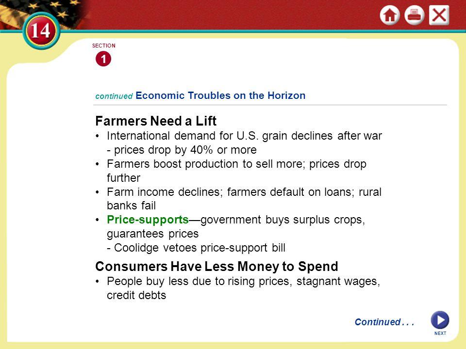 Farmers Need a Lift International demand for U.S.