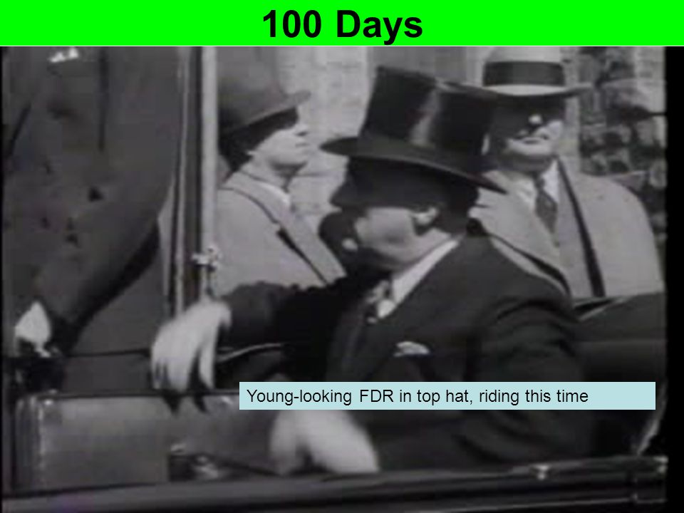 100 Days Young-looking FDR in top hat, riding this time