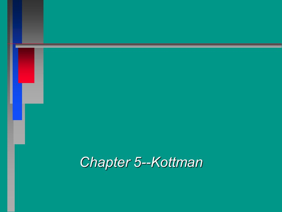 Chapter 5--Kottman