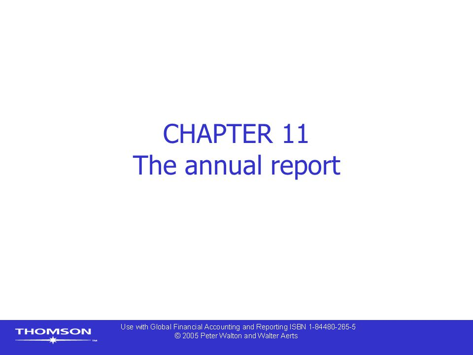 CHAPTER 11 The annual report