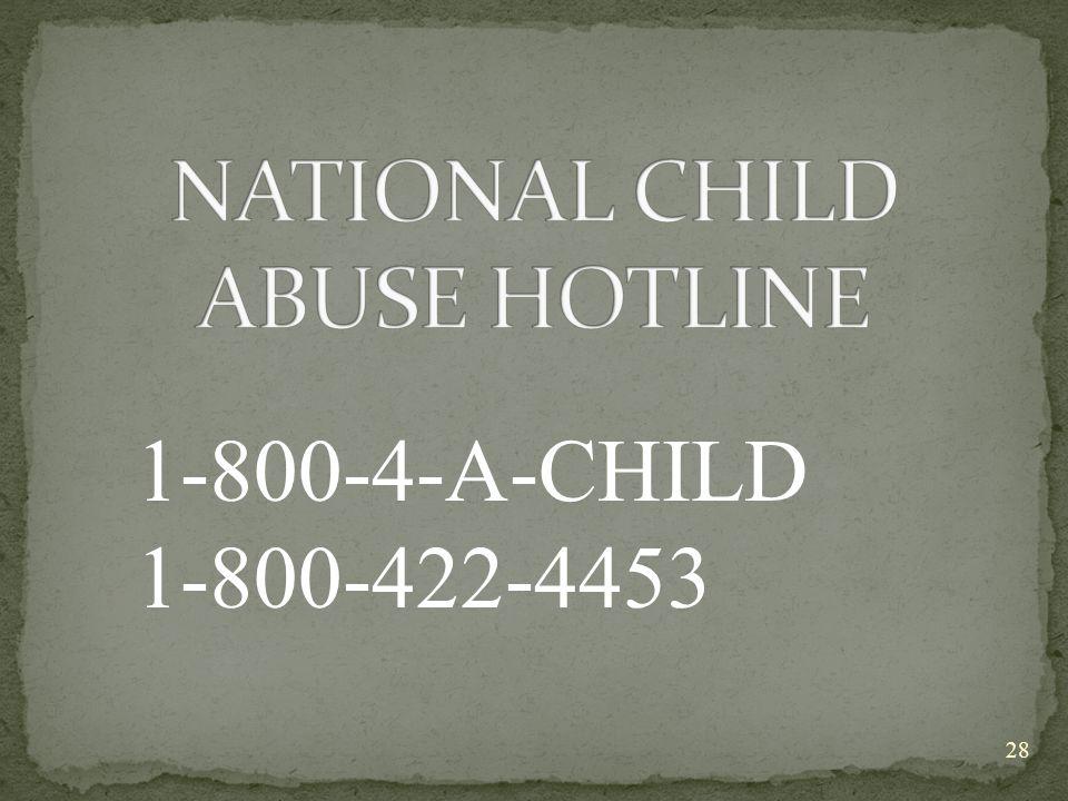 1-800-4-A-CHILD 1-800-422-4453 28