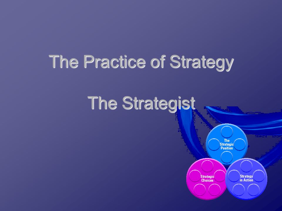 The Practice of Strategy The Strategist