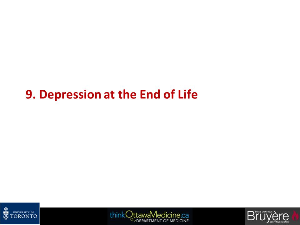 9. Depression at the End of Life