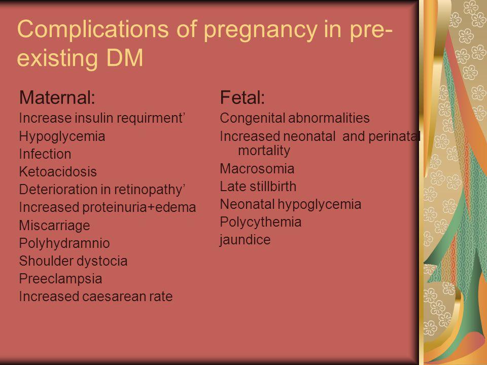 Maternal hyperglycemia | Fetal hyperglycemia | Fetal pancreatic beta-cell hyperplasia | Fetal hyperinsulinaemia | Macrosomia,organomegaly, polycythaemia, hypoglycemia, RDS