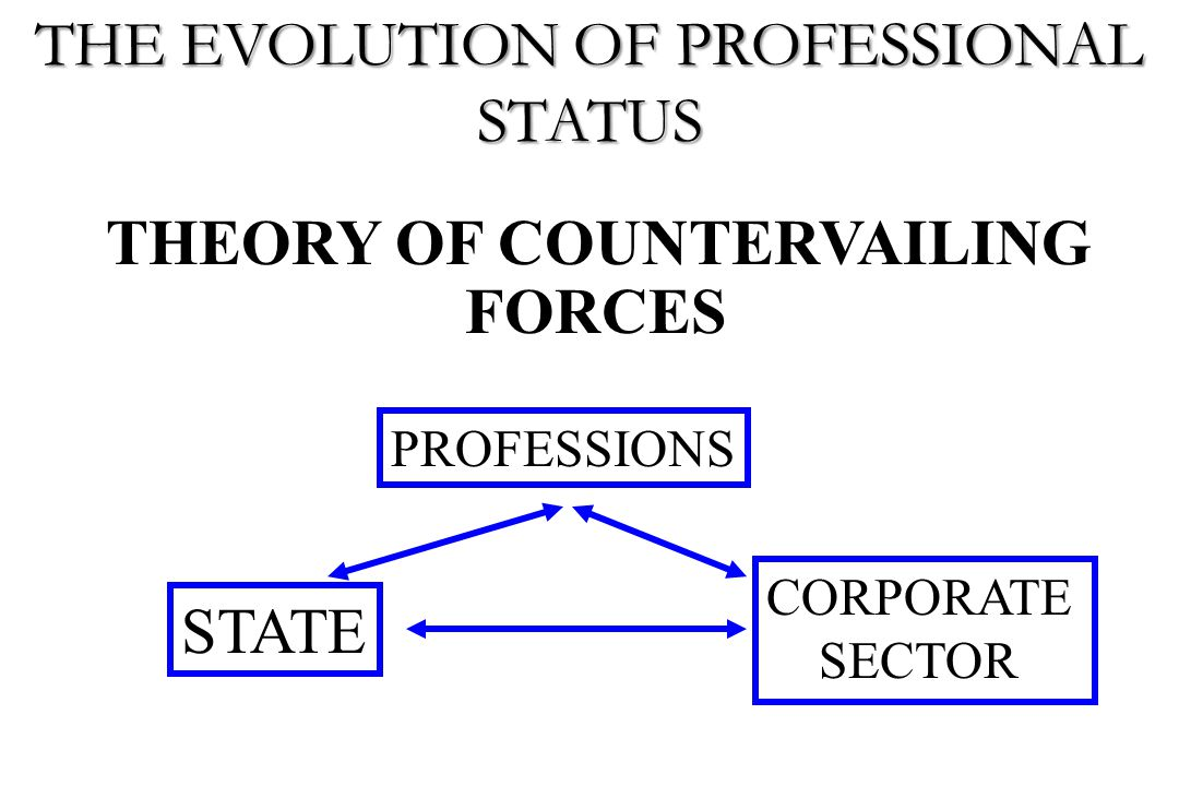 THEORY OF COUNTERVAILING FORCES PROFESSIONS STATE CORPORATE SECTOR THE EVOLUTION OF PROFESSIONAL STATUS