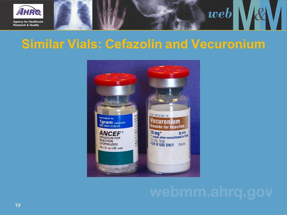 19 Similar Vials: Cefazolin and Vecuronium