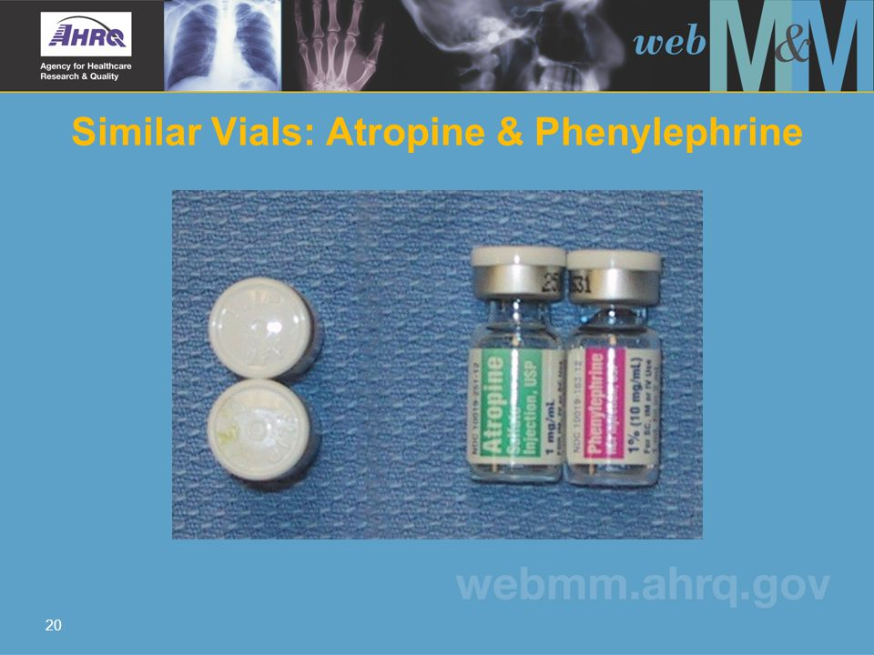 20 Similar Vials: Atropine & Phenylephrine
