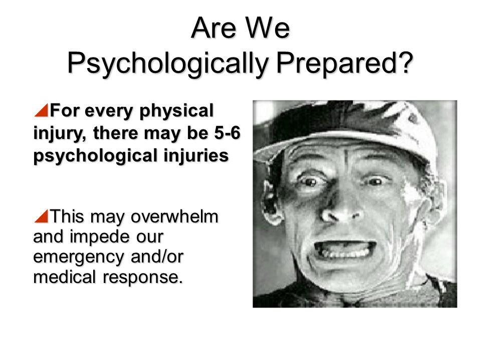 Unit Objectives 1.Psychological impacts to expect after a disaster – What happens for people? 2.How to work with the psychological impacts in your rol