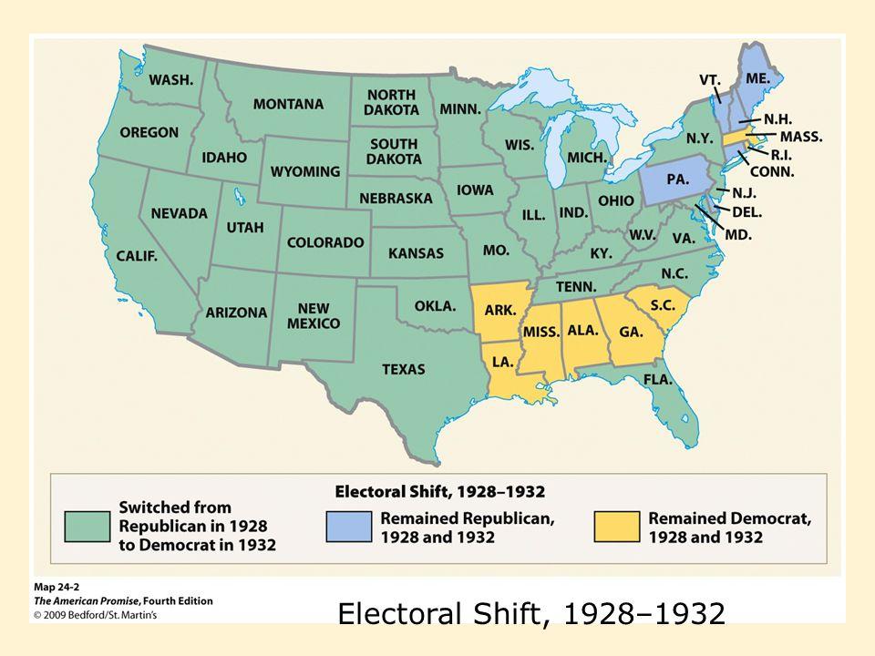 Electoral Shift, 1928–1932