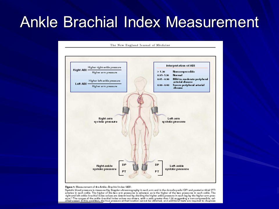 Ankle Brachial Index Measurement