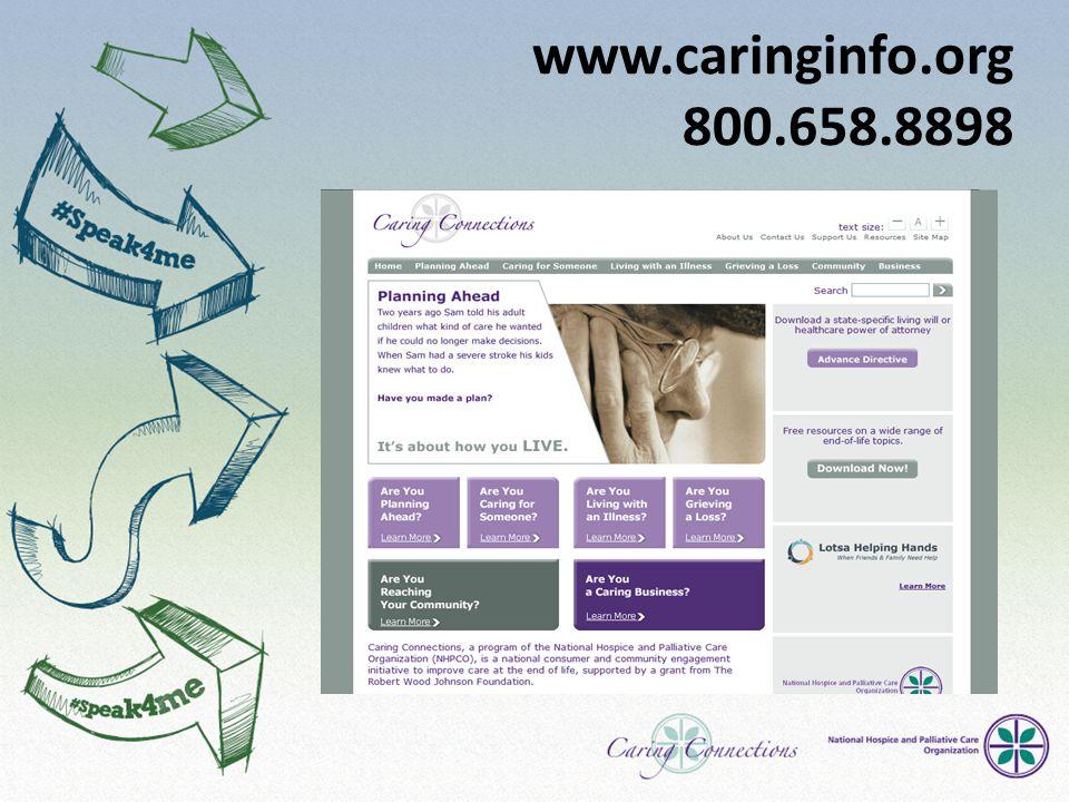 www.caringinfo.org 800.658.8898