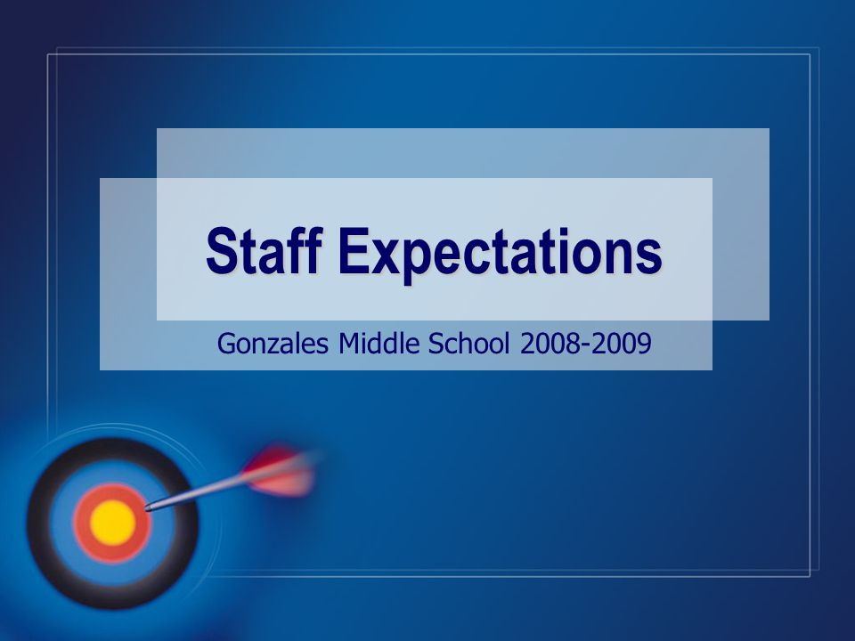 Gonzales Middle School 2008-2009 Staff Expectations