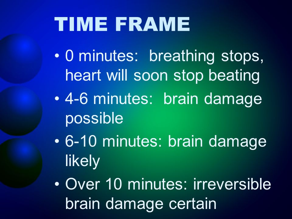 RESCUE BREATHING Keep airway open 1 breath every 5 seconds Every minute re-check pulse