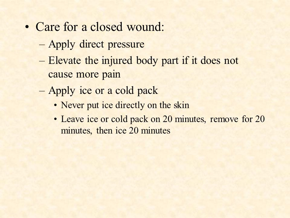 Types of Wounds 1. Soft tissues include layers of skin, fat, & muscle 2. Damage may be at the skin level or deeper in the body 3. A physical injury th