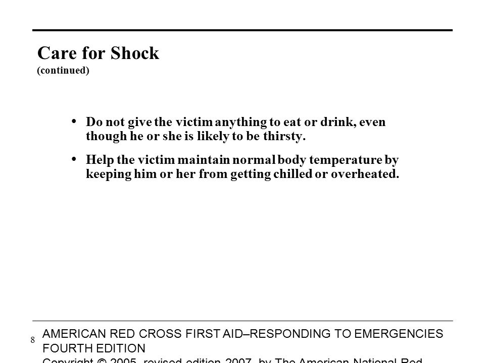 9 AMERICAN RED CROSS FIRST AID–RESPONDING TO EMERGENCIES FOURTH EDITION Copyright © 2005, revised edition 2007, by The American National Red Cross All rights reserved.