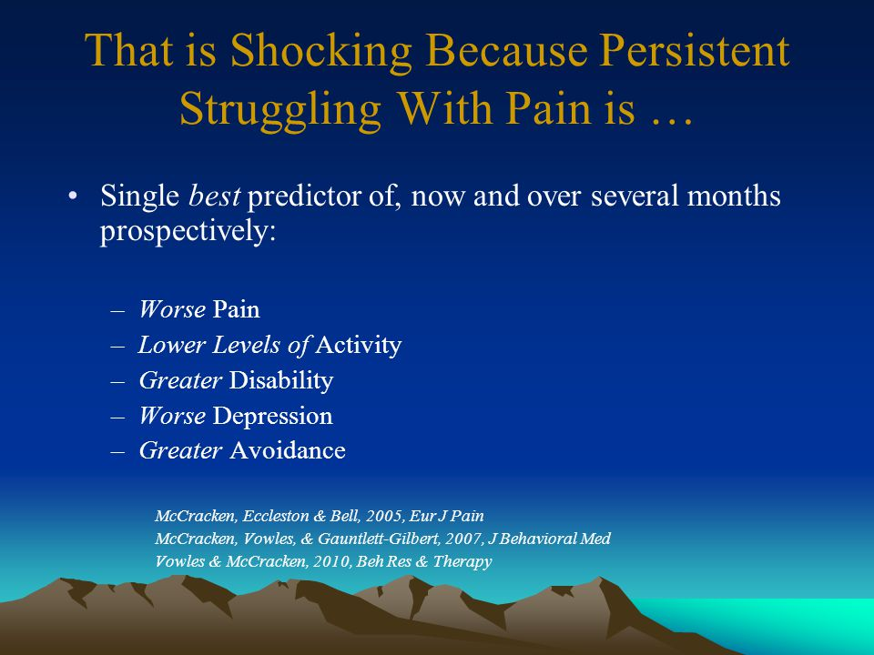 Therefore, for pain patients … Its important to keep fighting this pain. Is endorsed by 92% of patients.