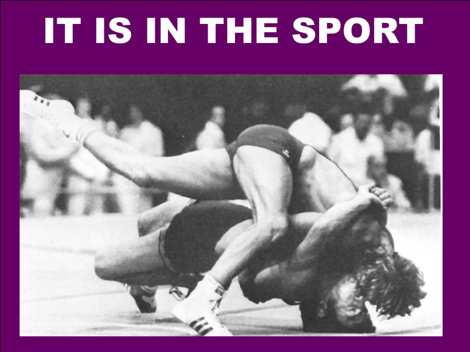 IT IS IN THE SPORT