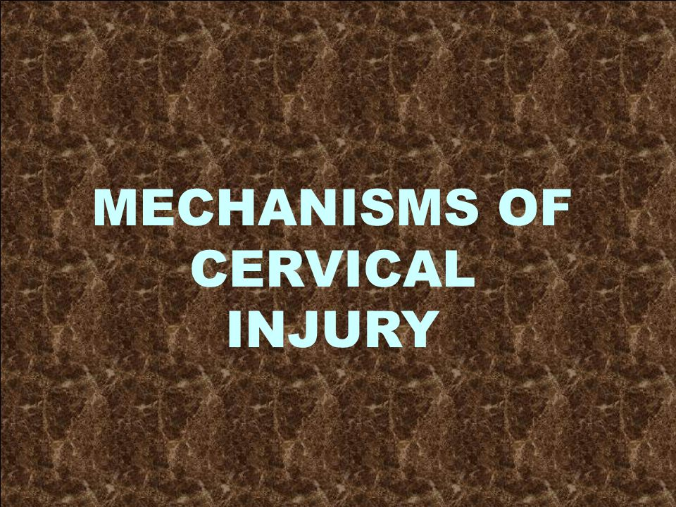 MECHANISMS OF CERVICAL INJURY