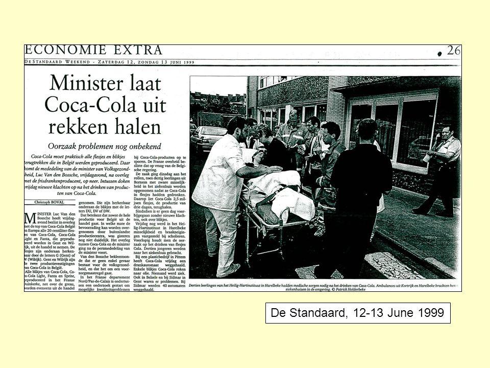De Standaard, 12-13 June 1999