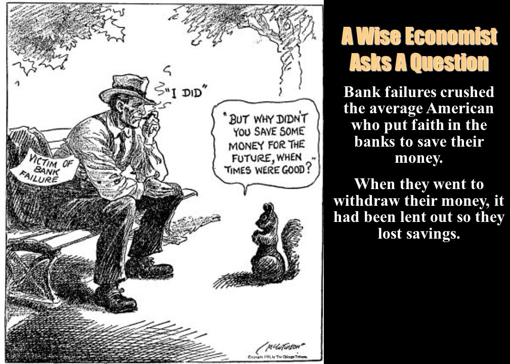  Banks lost their investments in the Market after the Crash  Millions of Americans were caught in the panic of the Stock Market crash.  Went to the