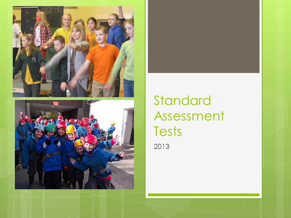 Standard Assessment Tests 2013