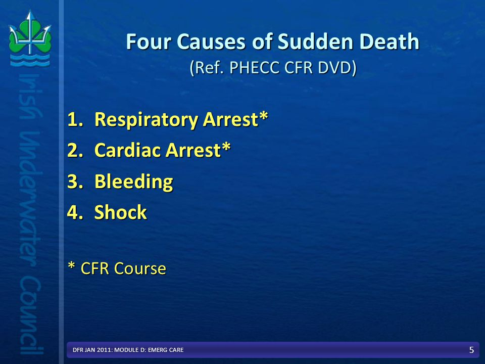 Four Causes of Sudden Death (Ref.