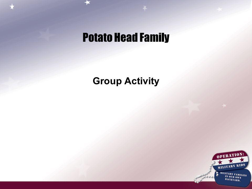 Potato Head Family Group Activity