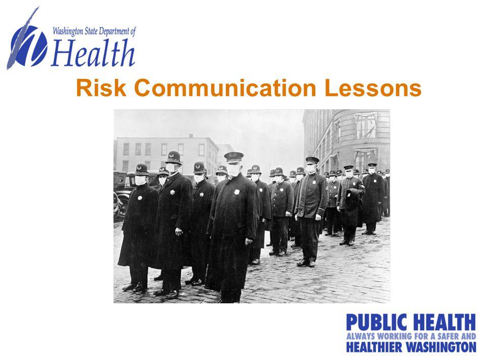 Risk Communication Lessons