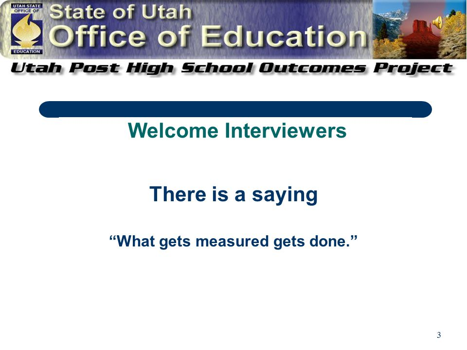 4 That is why you are here, to help measure post high school outcomes for students with disabilities!