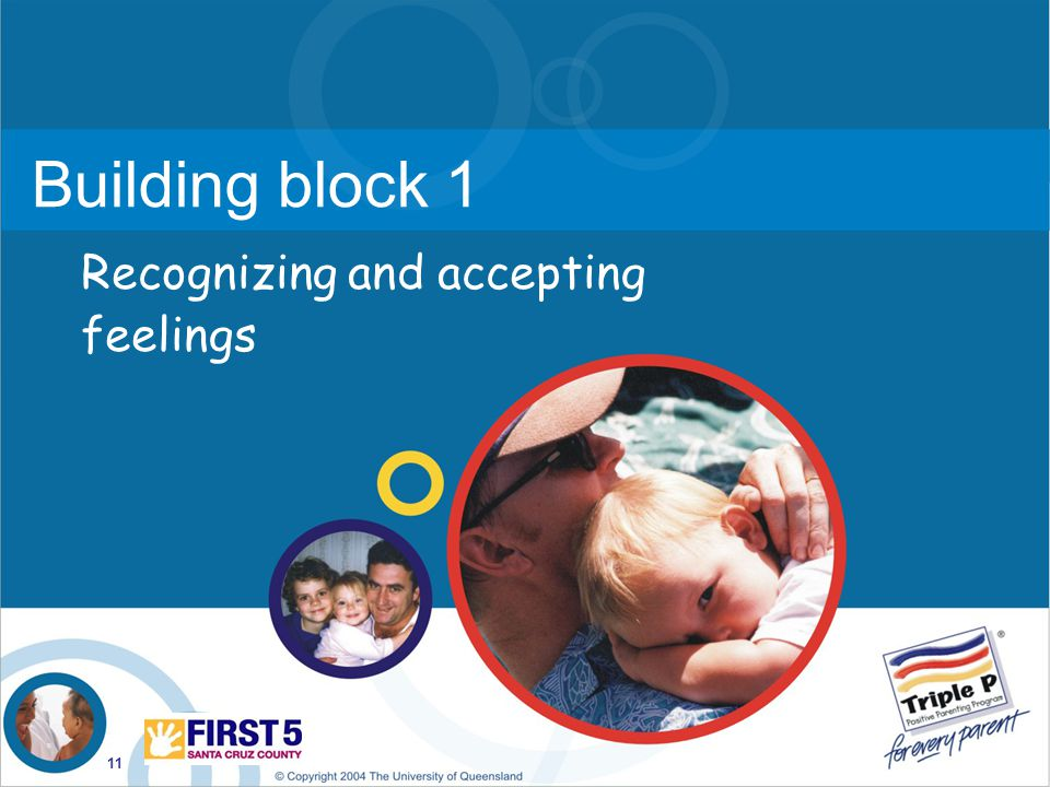 11 Building block 1 Recognizing and accepting feelings