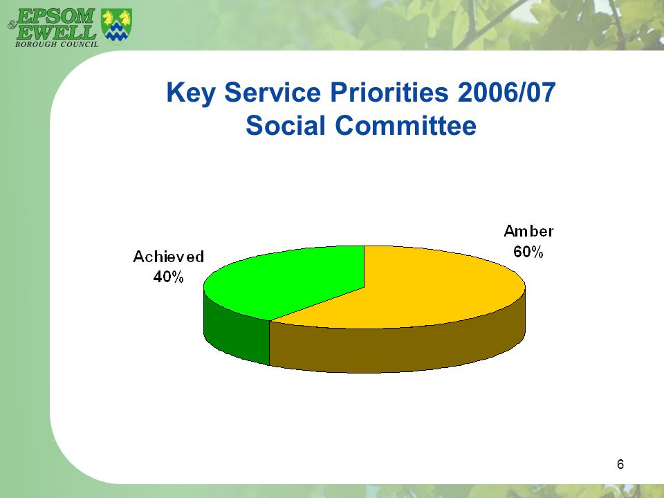 6 Key Service Priorities 2006/07 Social Committee