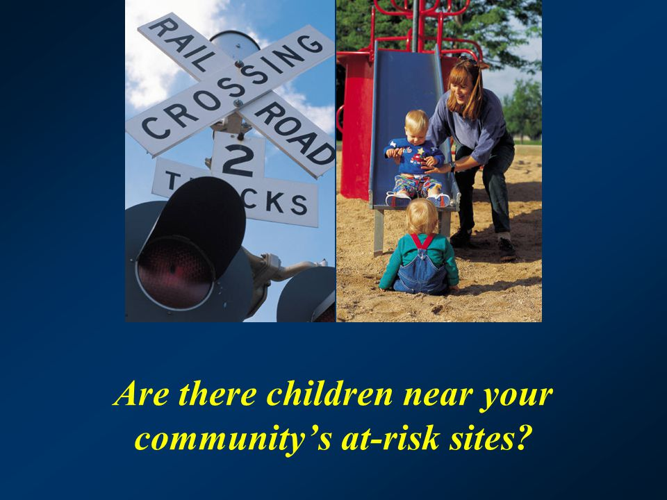 Are there children near your community's at-risk sites?