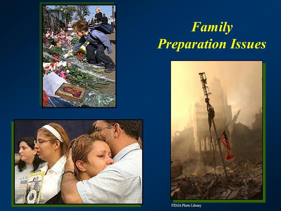 Family Preparation Issues FEMA Photo Library
