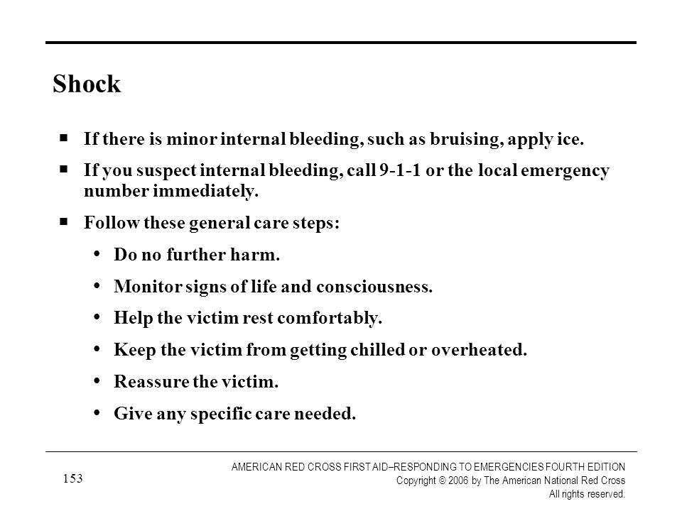 154 AMERICAN RED CROSS FIRST AID–RESPONDING TO EMERGENCIES FOURTH EDITION Copyright © 2006 by The American National Red Cross All rights reserved.