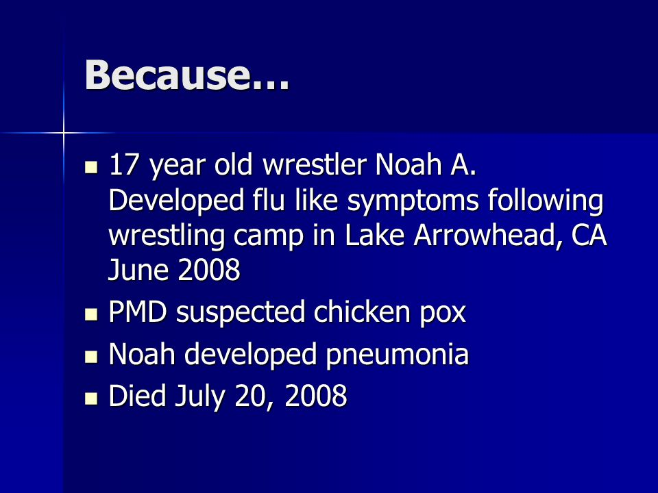 Because… 17 year old wrestler Noah A.