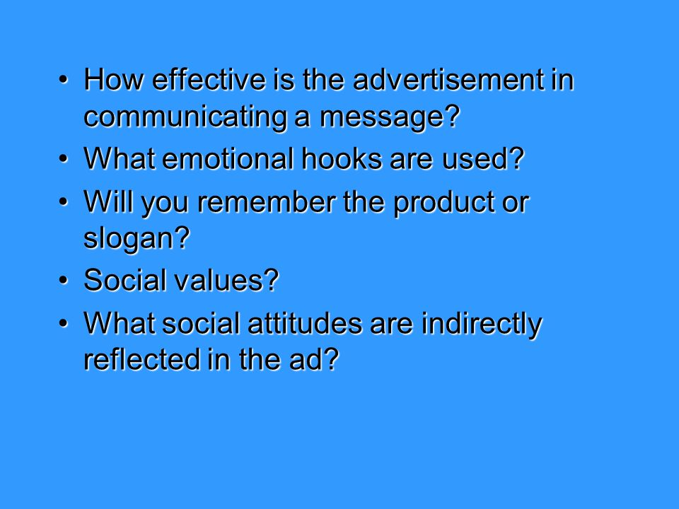 How effective is the advertisement in communicating a message?How effective is the advertisement in communicating a message? What emotional hooks are