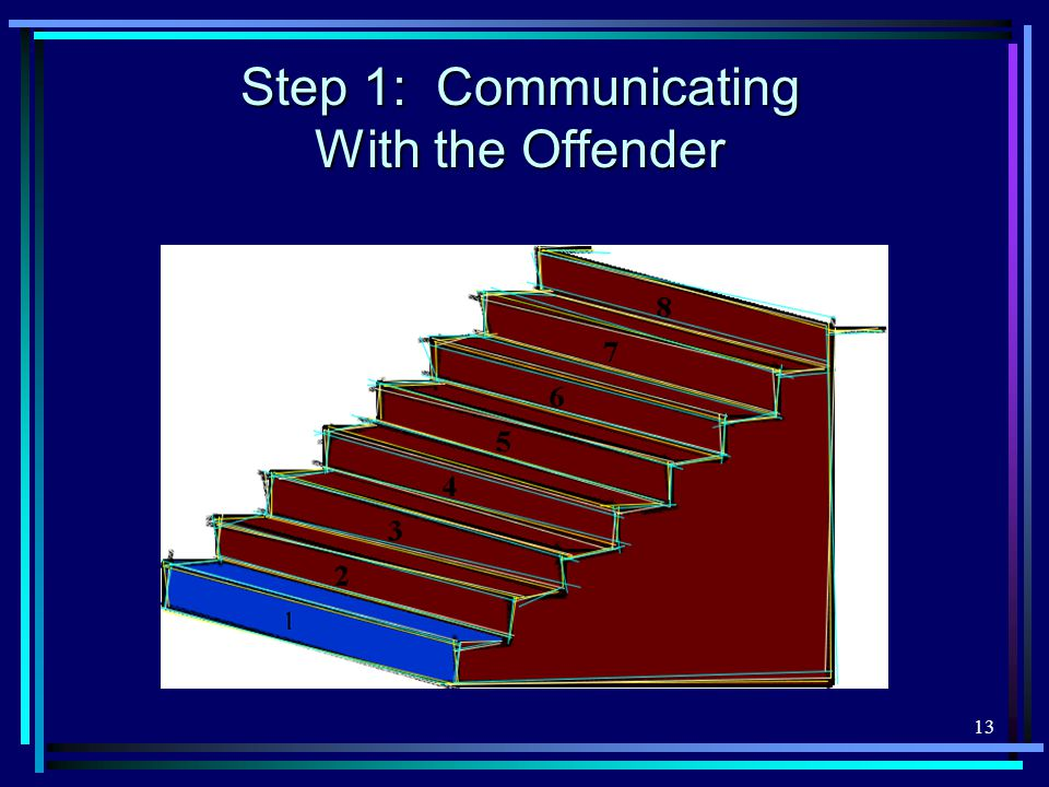 13 Step 1: Communicating With the Offender