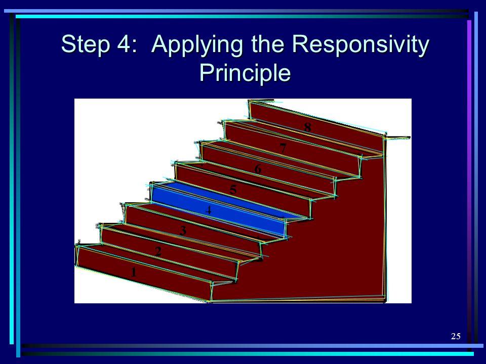 25 Step 4: Applying the Responsivity Principle