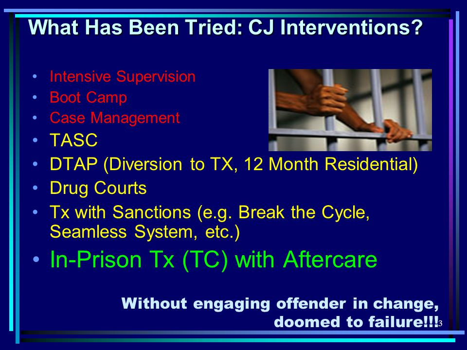 3 What Has Been Tried: CJ Interventions.
