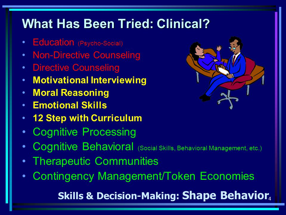 4 What Has Been Tried: Clinical.