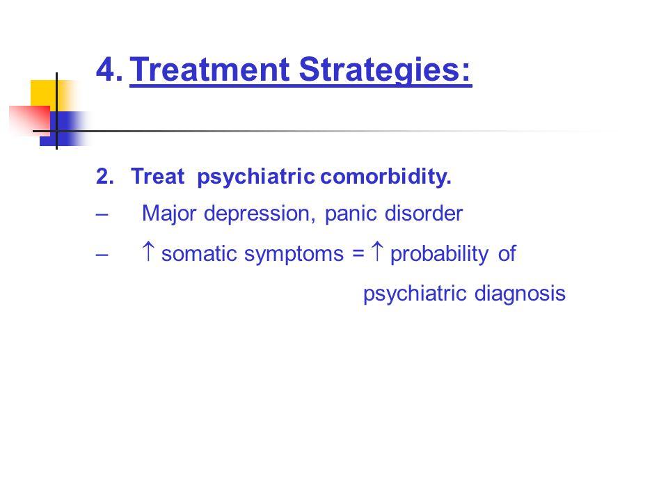 4.Treatment Strategies: 2.Treat psychiatric comorbidity.