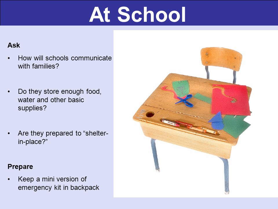 At School Ask How will schools communicate with families.