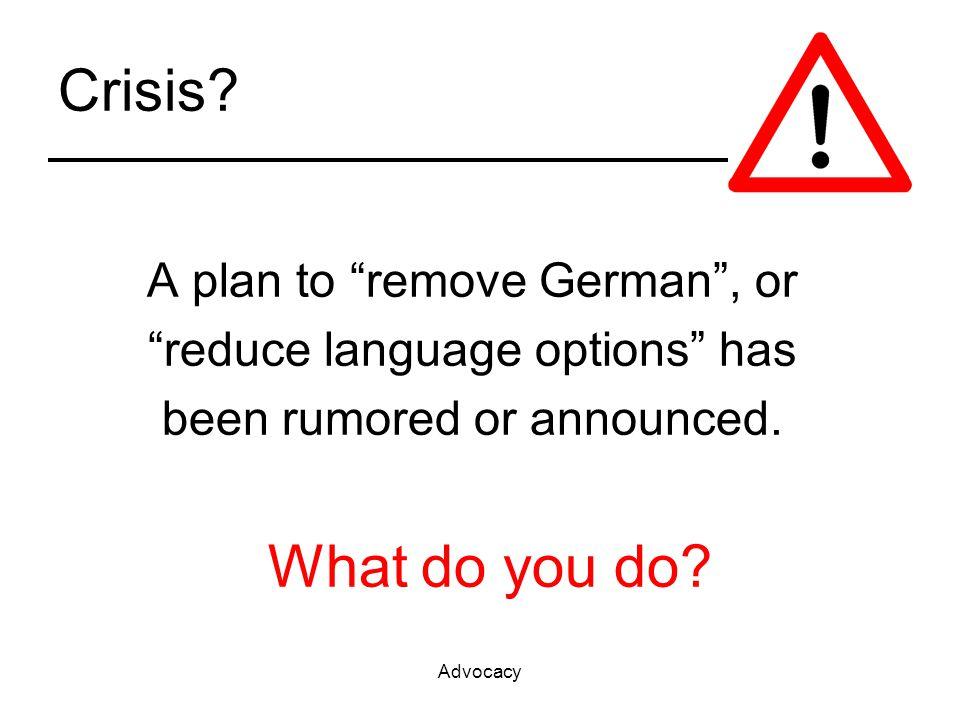 Advocacy Crisis.