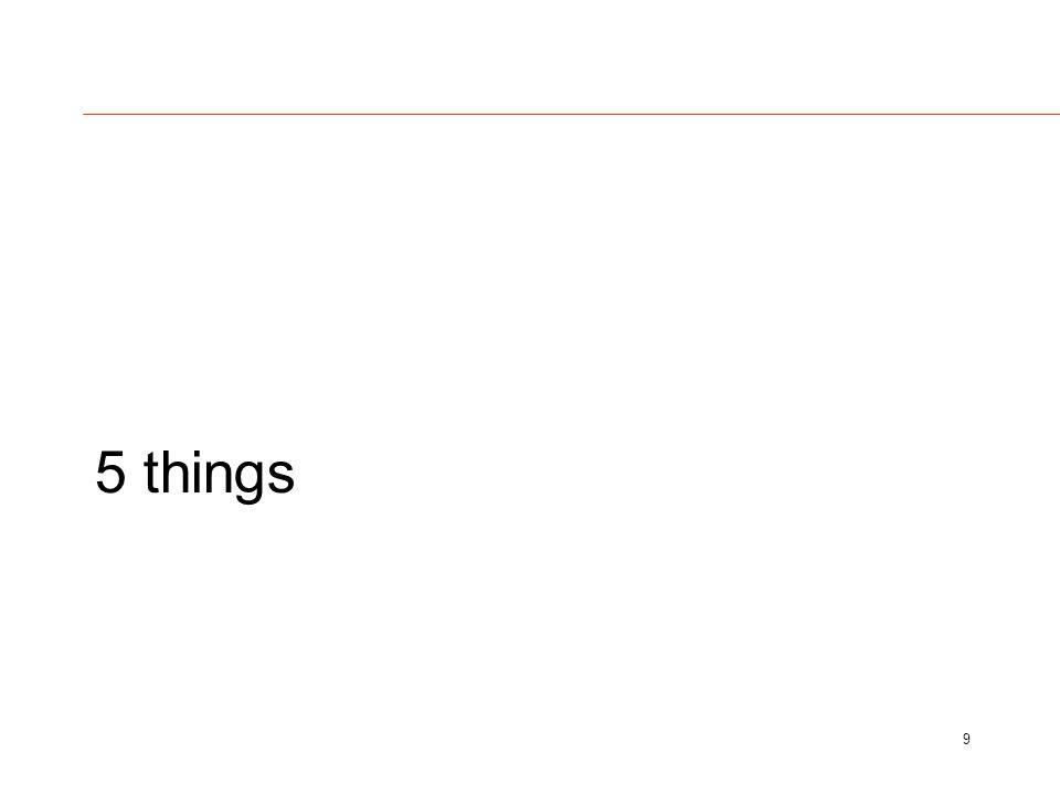 5 things 9