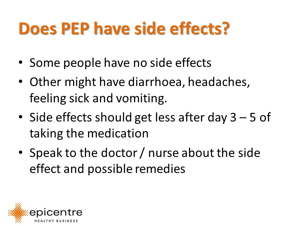 Does PEP have side effects.