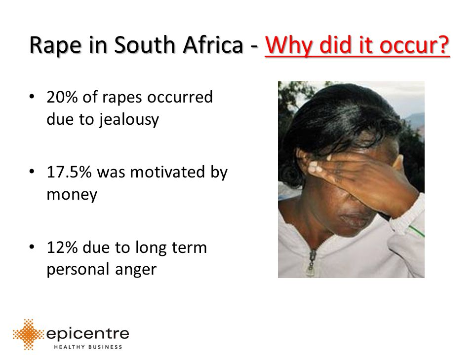 Rape in South Africa - Why did it occur.