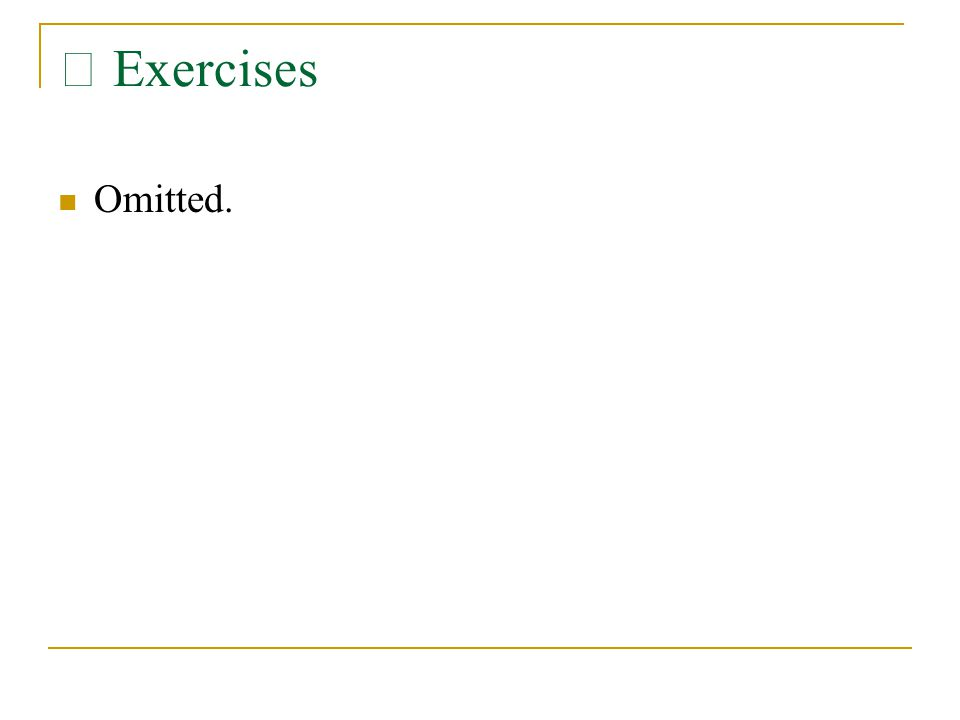 Ⅷ Exercises Omitted.