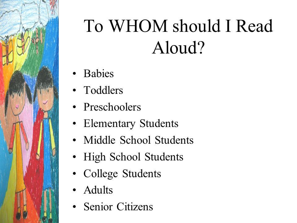 WHAT should I Read Aloud.
