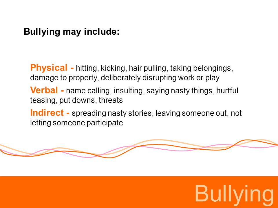 Bullying Why do people bully.