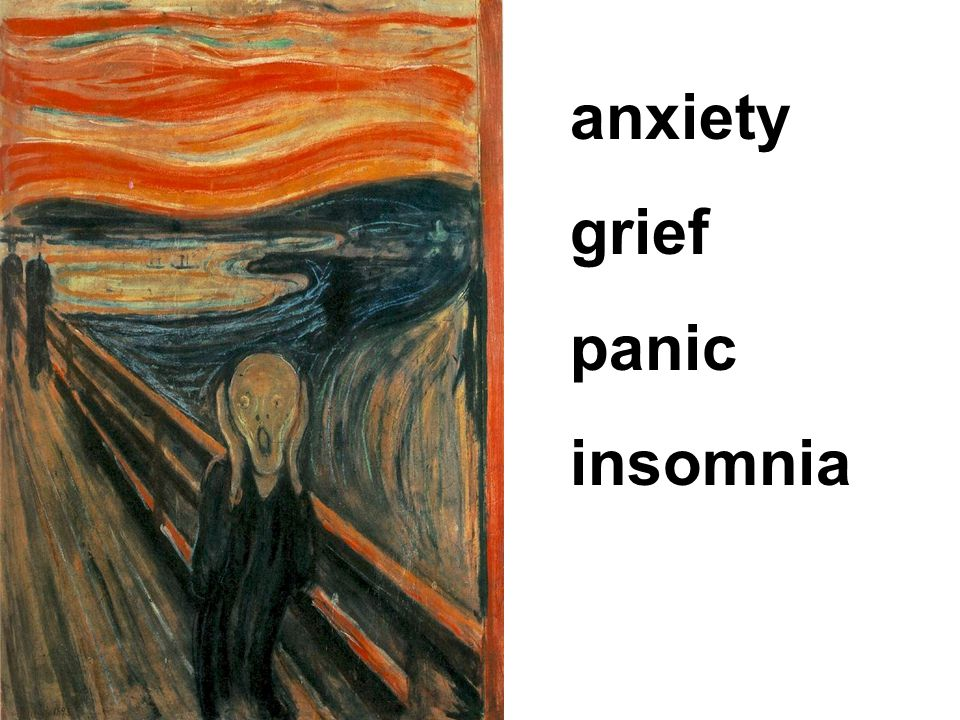anxiety grief panic insomnia